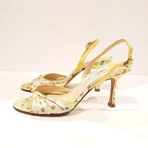 huge discount 5411a 65a76 ... Jimmy Choo polka dot satin heels 36.5 ...